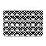 Black and white Triangles pattern, geometric Small Doormat