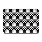 Black and white Triangles pattern, geometric Plate Mats