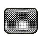 Black and white Triangles pattern, geometric Netbook Case (Small)