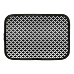 Black and white Triangles pattern, geometric Netbook Case (Medium)