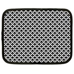 Black and white Triangles pattern, geometric Netbook Case (Large)