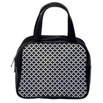 Black and white Triangles pattern, geometric Classic Handbag (One Side)