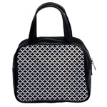 Black and white Triangles pattern, geometric Classic Handbag (Two Sides)