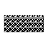 Black and white Triangles pattern, geometric Hand Towel