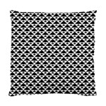 Black and white Triangles pattern, geometric Standard Cushion Case (One Side)