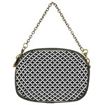 Black and white Triangles pattern, geometric Chain Purse (Two Sides)
