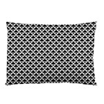 Black and white Triangles pattern, geometric Pillow Case