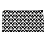 Black and white Triangles pattern, geometric Pencil Case