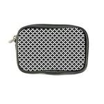 Black and white Triangles pattern, geometric Coin Purse