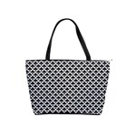 Black and white Triangles pattern, geometric Classic Shoulder Handbag
