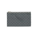 Black and white Triangles pattern, geometric Cosmetic Bag (Small)
