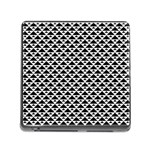 Black and white Triangles pattern, geometric Memory Card Reader (Square 5 Slot)