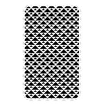 Black and white Triangles pattern, geometric Memory Card Reader (Rectangular)