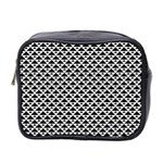 Black and white Triangles pattern, geometric Mini Toiletries Bag (Two Sides)