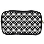 Black and white Triangles pattern, geometric Toiletries Bag (Two Sides)