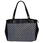 Black and white Triangles pattern, geometric Oversize Office Handbag