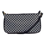 Black and white Triangles pattern, geometric Shoulder Clutch Bag