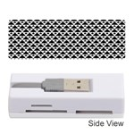 Black and white Triangles pattern, geometric Memory Card Reader (Stick)