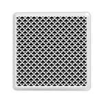 Black and white Triangles pattern, geometric Memory Card Reader (Square)