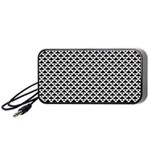 Black and white Triangles pattern, geometric Portable Speaker