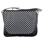 Black and white Triangles pattern, geometric Messenger Bag