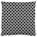 Black and white Triangles pattern, geometric Large Cushion Case (Two Sides)