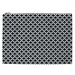 Black and white Triangles pattern, geometric Cosmetic Bag (XXL)