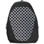 Black and white Triangles pattern, geometric Backpack Bag