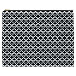 Black and white Triangles pattern, geometric Cosmetic Bag (XXXL)