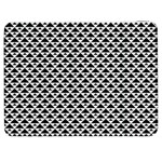 Black and white Triangles pattern, geometric Samsung Galaxy Tab 7  P1000 Flip Case