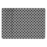 Black and white Triangles pattern, geometric Samsung Galaxy Tab 10.1  P7500 Flip Case