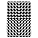 Black and white Triangles pattern, geometric Removable Flap Cover (L)