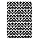 Black and white Triangles pattern, geometric Removable Flap Cover (S)