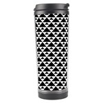 Black and white Triangles pattern, geometric Travel Tumbler