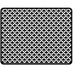 Black and white Triangles pattern, geometric Double Sided Fleece Blanket (Medium)