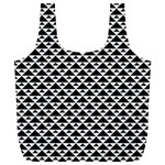 Black and white Triangles pattern, geometric Full Print Recycle Bag (XL)