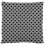 Black and white Triangles pattern, geometric Large Flano Cushion Case (Two Sides)