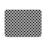 Black and white Triangles pattern, geometric Double Sided Flano Blanket (Mini)