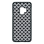 Black and white Triangles pattern, geometric Samsung Galaxy S9 Seamless Case(Black)