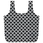 Black and white Triangles pattern, geometric Full Print Recycle Bag (XXL)