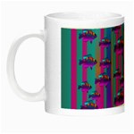 Tropical Rainbow Fishes  In Meadows Of Seagrass Night Luminous Mugs