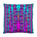 Tropical Rainbow Fishes  In Meadows Of Seagrass Standard Cushion Case (One Side)