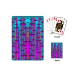 Tropical Rainbow Fishes  In Meadows Of Seagrass Playing Cards Single Design (Mini)