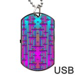 Tropical Rainbow Fishes  In Meadows Of Seagrass Dog Tag USB Flash (Two Sides)