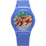 Colored Crab, Galapagos Island, Ecuador Round Plastic Sport Watch (S)