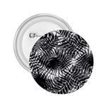 Tropical leafs pattern, black and white jungle theme 2.25  Buttons