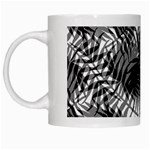 Tropical leafs pattern, black and white jungle theme White Mugs