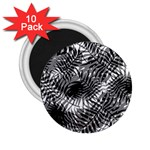 Tropical leafs pattern, black and white jungle theme 2.25  Magnets (10 pack)