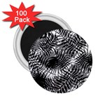 Tropical leafs pattern, black and white jungle theme 2.25  Magnets (100 pack)