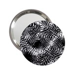Tropical leafs pattern, black and white jungle theme 2.25  Handbag Mirrors